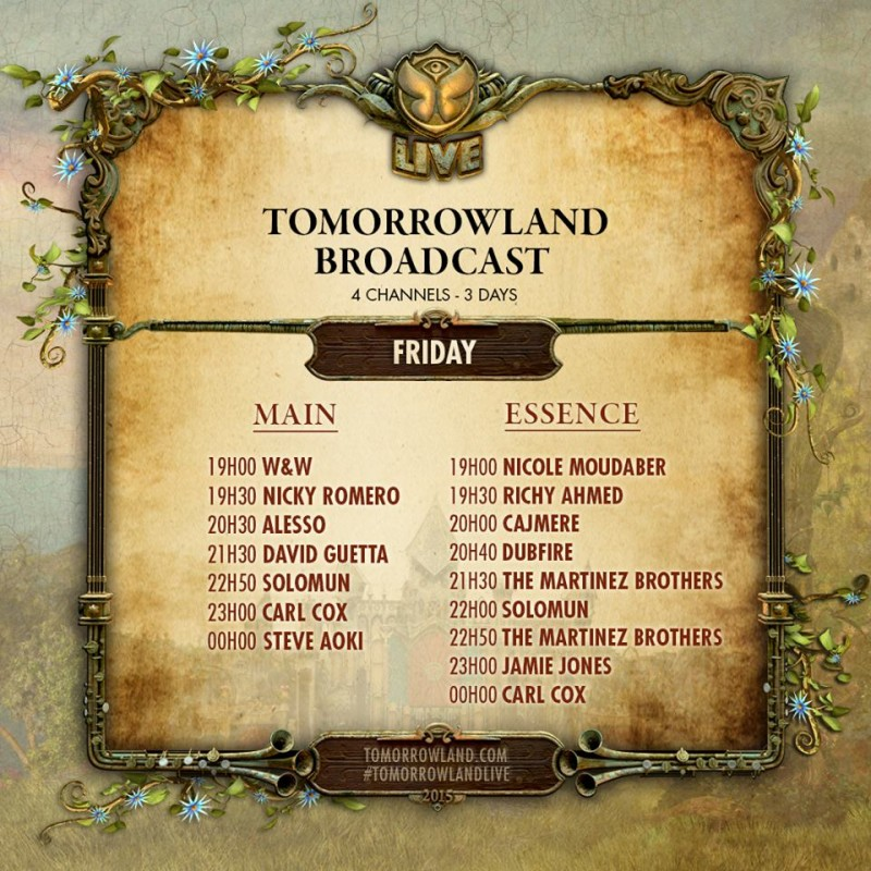 line up tomorroland