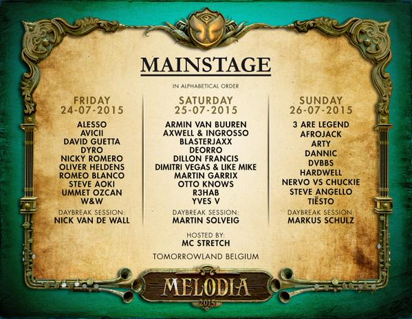 tomorrowland lineup